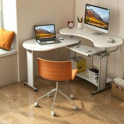 Tribesigns 180 ° Rotating L-Shaped Corner Desk Computer Off