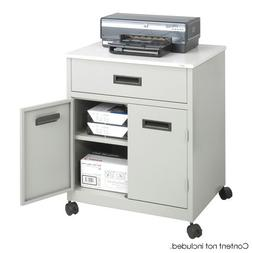 Safco 1870GR Safco Steel Machine Stand w/Pullout Drawer, 25w