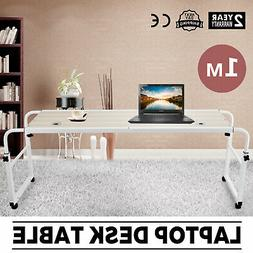 1M MOBILE TROLLEY DESK HOME MOVABLE HOSPITAL PC COMPUTER TAB