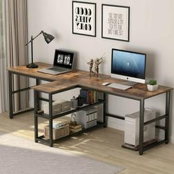 Tribesigns 2 Person Computer Desk Home Office Double Table w