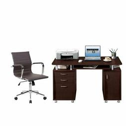 2 Piece Office Set with Executive Office Chair and Computer