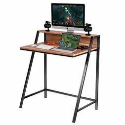 2 Tier Computer Desk PC Laptop Table Study Writing Home Offi