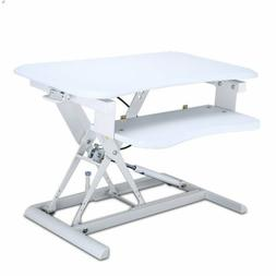 26inch Wide Height Adjustable Stand up Desk Computer Riser w