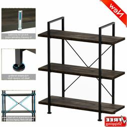 "39"" 3-Tier Bookcase Open Etagere Stand Wood Bookshelf Storag"