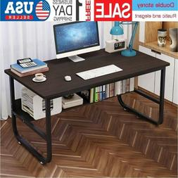 "47/55"" Computer Desk Laptop Table Writing Study Workstation"