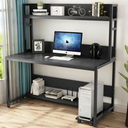 55 large computer desk with hutch modern