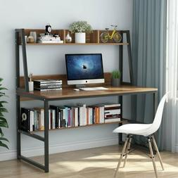 47/55'' Computer Desk with Hutch Bookshelves Home Office Stu
