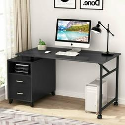 "Tribesigns 47"" Computer Desk with Cabinet Shelf 360° Swivel"