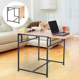 "47"" Folding Computer Table Home Office Desk Slide Writing De"