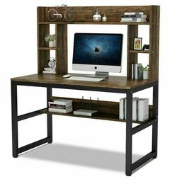 "47"" Home Office Computer Desk with Hutch and Bookshelf Space"