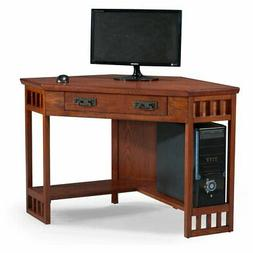 Leick Home 48 in. Corner Computer/Writing Desk - Mission Oak