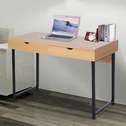 "48""L Wood Modern Computer Table Storage Study Working Desk"