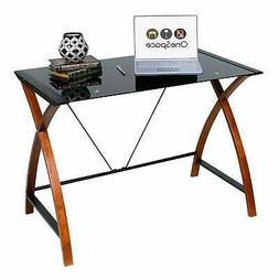 OneSpace Glass and Wood Computer Desk