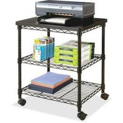 Safco Products Deskside Wire Machine Stand 5207BL, Holds up