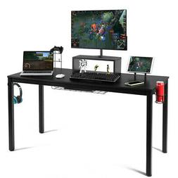 55 inch Gaming Desk Racing Style Computer Desk with Cup Hold