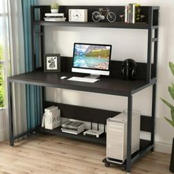 Tribesigns 55'' Large Computer Desk with Hutch Bookshelf Che