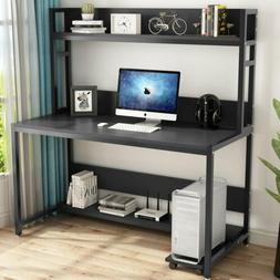 Tribesigns 55''Large Computer Desk with Hutch Modern Writing