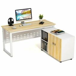"""55"""" Wide Large Simple Office Desk PC Laptop Table/ Large Sto"""