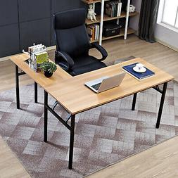 Need 55' X 55' L-Shaped Folding Computer Desk, One-Step Asse