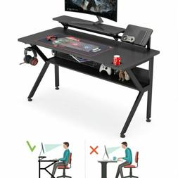 55Inch Ergonomic Gaming Desk K-Shaped Office PC Computer Des