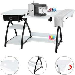 57-Inch Sewing Craft Table Multifunctional Computer Desk wit