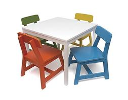 Lipper International 585MC Child's Square Table and 4 Chair