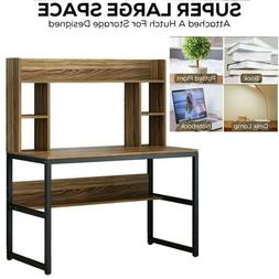 5Tier Bookshelves Computer Desk with Hutch Shelf Writing Stu