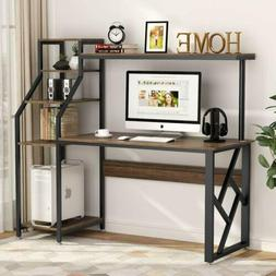 """Tribesigns 60"""" Computer Desk with 4-Tier Storage Shelves, Of"""