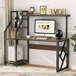 """Tribesigns 60"""" Large Rustic Office Computer Desk with 4-Tier"""