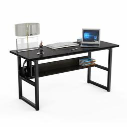 63 computer desk with bookshelf office pc