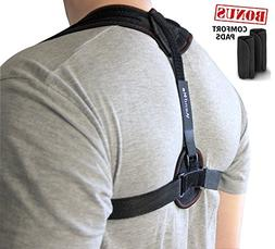 Back Posture Corrector Brace for Women & Men - Support, Adju