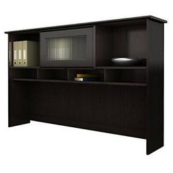 Bush Furniture Cabot Hutch in Espresso Oak