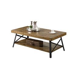 Emerald Home Chandler Rustic Industrial Solid Wood and Steel