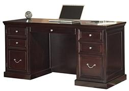 "Martin Furniture Fulton 61"" Space Saver Double Pedestal Desk"