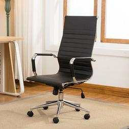 Modern High-Back Mesh Executive Chair With Headrest And Flip