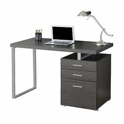 "Monarch Left Or Right Facing Computer Desk, 48"", Grey"