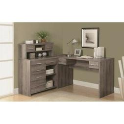 Prime Monarch Reclaimed Lookl Shaped Home Office Desk Dark Taupe Home Interior And Landscaping Eliaenasavecom