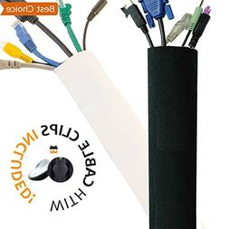 New Design PREMIUM 63'' Cable Management Sleeve, Best Cords