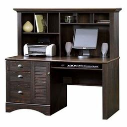 Sauder 401634 Harbor View Computer Desk with Hutch, L: 62.21