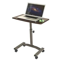 Seville Classics Mobile Laptop Computer Desk Cart Height-Adj