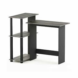 Furinno Abbott Corner Computer Desk with Bookshelf, French O