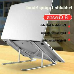 Adjustable Aluminum Laptop Notebook Table Stand Tray Lazy Fo