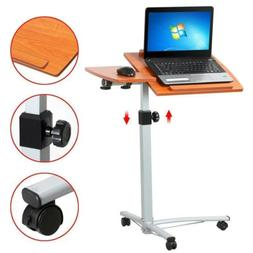 Adjustable Angle & Height Rolling Computer Desk Cart Bed Hos
