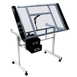 adjustable drafting drawing table rolling