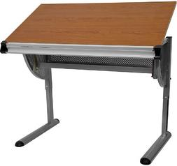Offex OFX-91171-FF Adjustable Drawing and Drafting Table wit