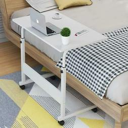 "Adjustable Height 27""-38"" Rolling Laptop Table Over Sofa Bed"