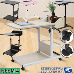 Adjustable Laptop Computer Mobile Rolling Table Desk Stand B