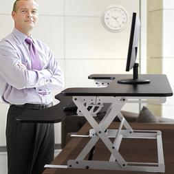 "36"" Adjustable Height Stand Up Desk Computer Workstation Lif"