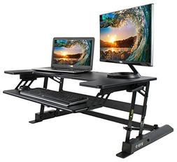 VIVO Height Adjustable Standing Desk Sit to Stand Gas Spring