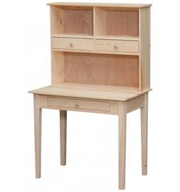 AMISH SOLID PINE Unfinished - 3 Drawer COMPUTER Hutch/DESK -